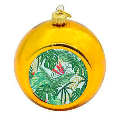 The Tropics III - colourful christmas bauble by Uma Prabhakar Gokhale
