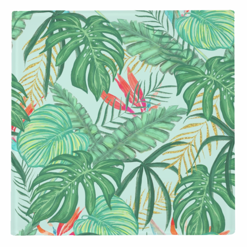 The Tropics III - personalised drink coaster by Uma Prabhakar Gokhale