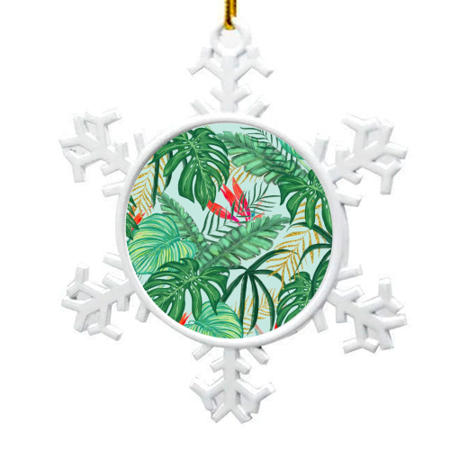 The Tropics III - snowflake decoration by Uma Prabhakar Gokhale