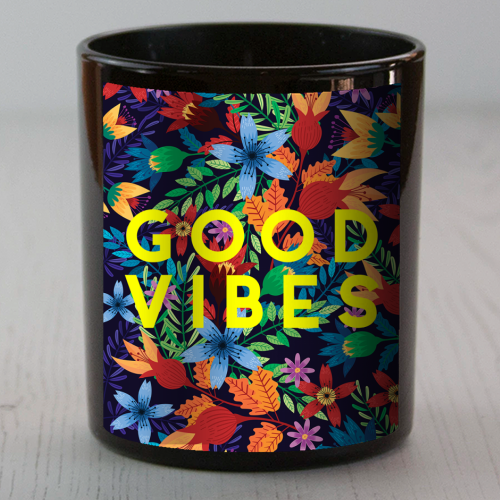 Good Vibes Flowers - Candle by The 13 Prints