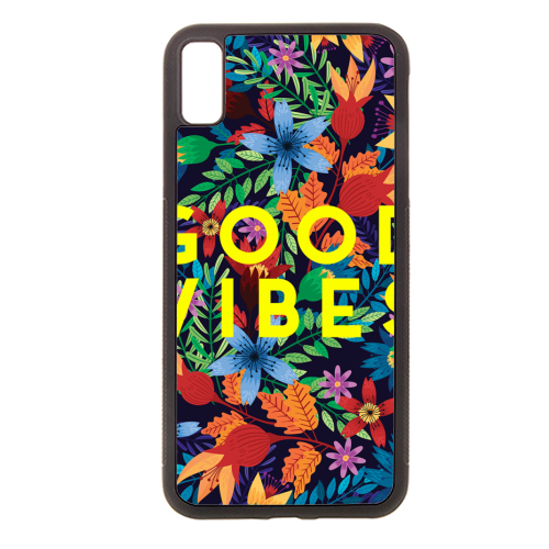 Good Vibes Flowers - Rubber phone case by The 13 Prints