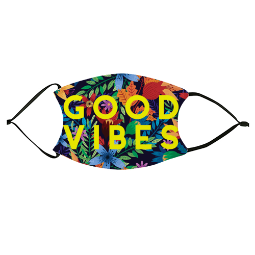 Good Vibes Flowers - washable face mask by The 13 Prints
