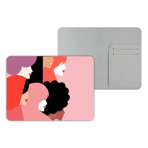Girl Power 'We Persist' Coral - designer passport cover by Dominique Vari