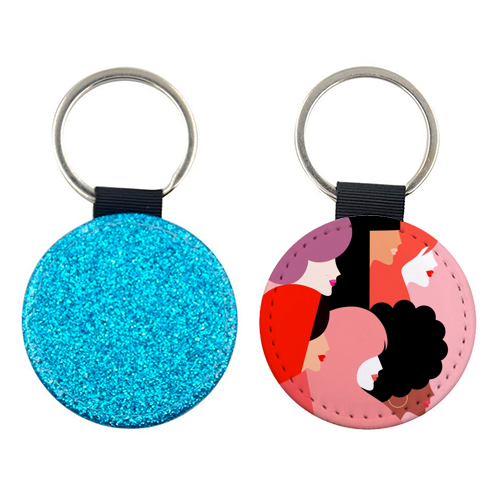 Girl Power 'We Persist' Coral - personalised picture keyring by Dominique Vari