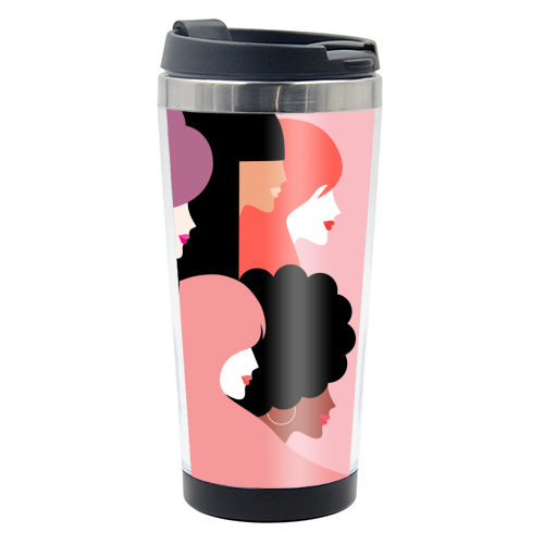 Girl Power 'We Persist' Coral - travel water bottle by Dominique Vari