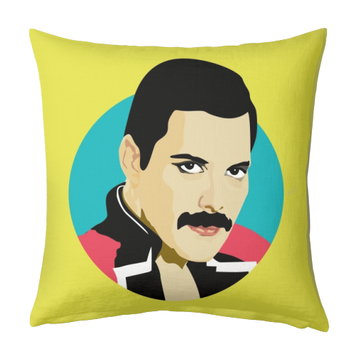 Freddie Mercury - designed cushion by SABI KOZ