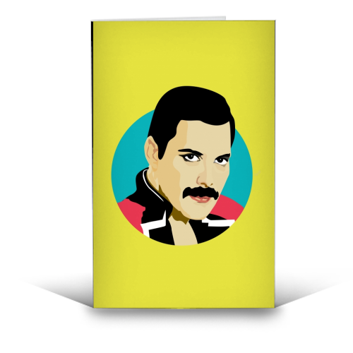 Freddie Mercury - funny greeting card by SABI KOZ