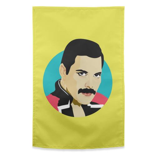 Freddie Mercury - funny tea towel by SABI KOZ