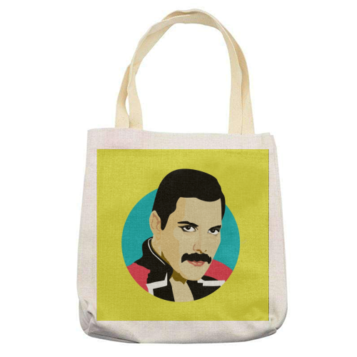 Freddie Mercury - printed tote bag by SABI KOZ