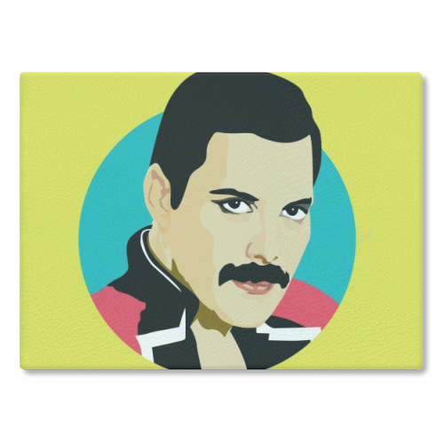 Freddie Mercury - glass chopping board by SABI KOZ