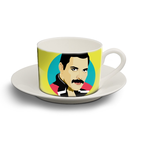 Freddie Mercury - personalised cup and saucer by SABI KOZ