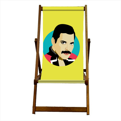 Freddie Mercury - canvas deck chair by SABI KOZ