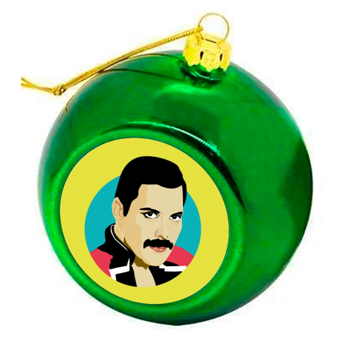 Freddie Mercury - colourful christmas bauble by SABI KOZ