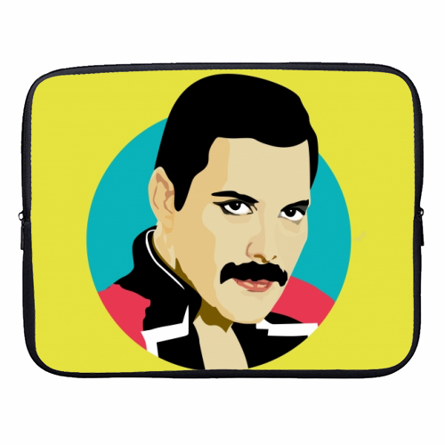 Freddie Mercury - designer laptop sleeve by SABI KOZ