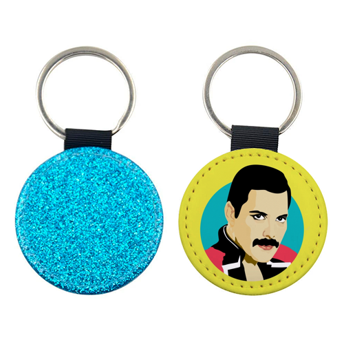 Freddie Mercury - personalised leather keyring by SABI KOZ