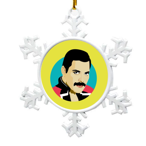 Freddie Mercury - snowflake decoration by SABI KOZ