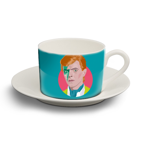 David Bowie - personalised cup and saucer by SABI KOZ