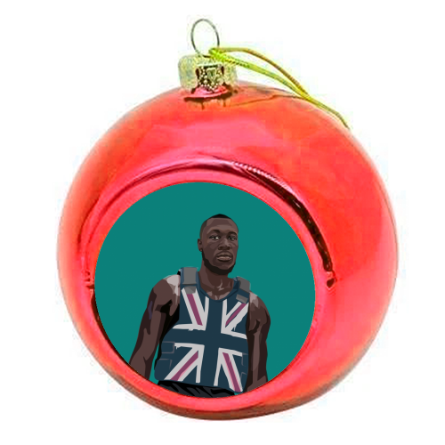 Stormzy - colourful christmas bauble by SABI KOZ