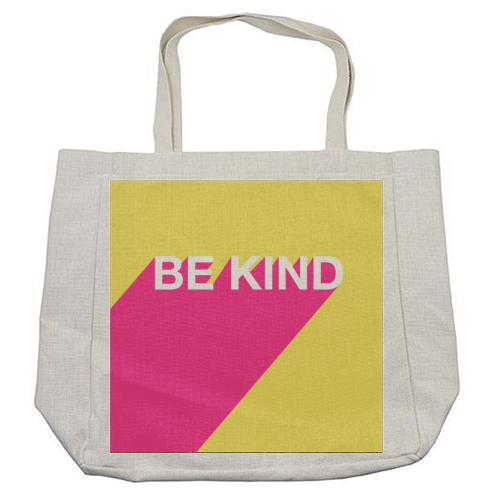 BE KIND TYPOGRAPHY DESIGN - cool beach bag by Adam Regester