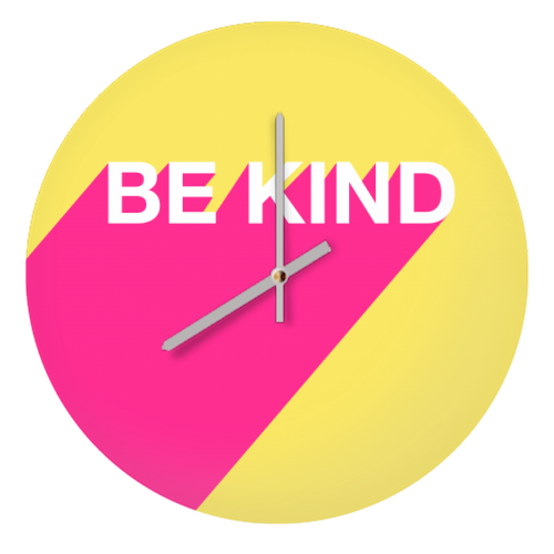 BE KIND TYPOGRAPHY DESIGN - creative clock by Adam Regester