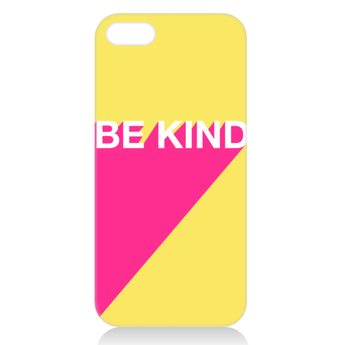 BE KIND TYPOGRAPHY DESIGN - unique phone case by Adam Regester