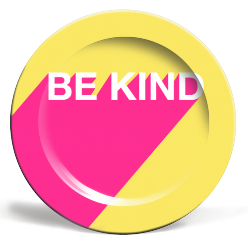 BE KIND TYPOGRAPHY DESIGN - ceramic dinner plate by Adam Regester