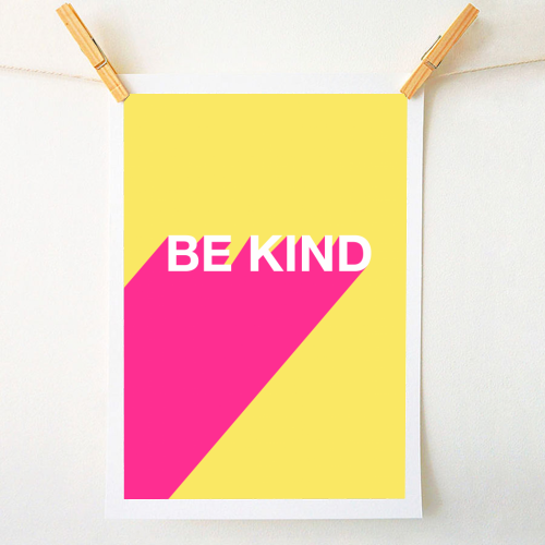 BE KIND TYPOGRAPHY DESIGN - original print by Adam Regester