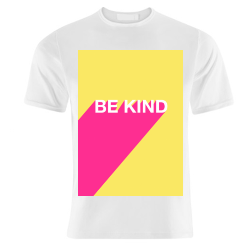 BE KIND TYPOGRAPHY DESIGN - unique t shirt by Adam Regester