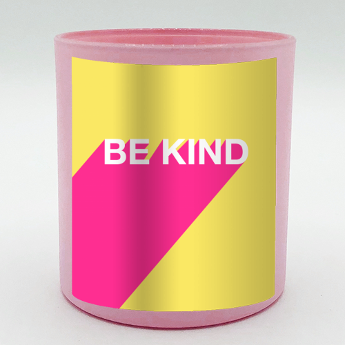 BE KIND TYPOGRAPHY DESIGN - Candle by Adam Regester