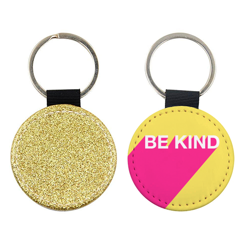 BE KIND TYPOGRAPHY DESIGN - personalised picture keyring by Adam Regester