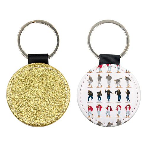 Hotline Bling - personalised leather keyring by Nour Tohme