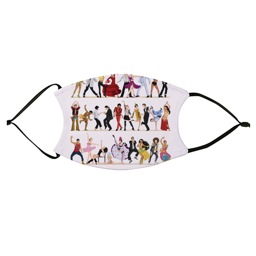 Everybody Dance Now - washable face mask by Nour Tohme