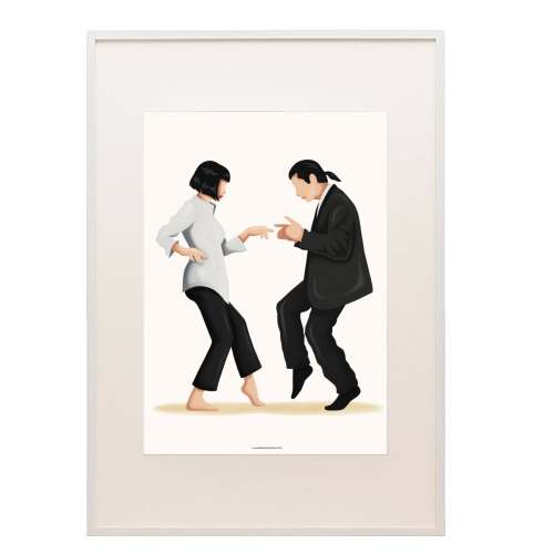 Pulp Fiction - printed framed picture by Nour Tohme