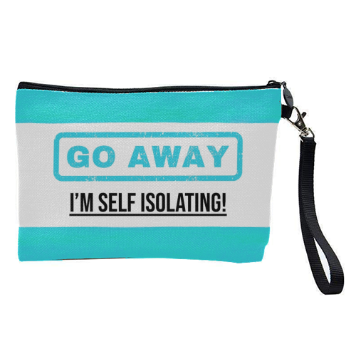 Go Away - I'm Self Isolating (blue) - pretty makeup bag by Lilly Rose