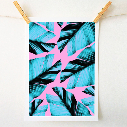 Tropical Banana Leaves Vibes #3 #foliage #decor #art - original print by Anita Bella Jantz