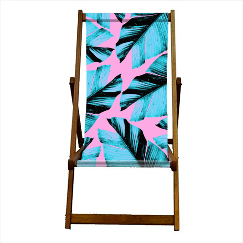 Tropical Banana Leaves Vibes #3 #foliage #decor #art - canvas deck chair by Anita Bella Jantz