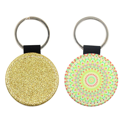 Groovy Kaleidoscope - personalised picture keyring by Kaleiope Studio