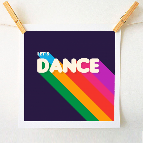 "LET""S DANCE - original print by Ania Wieclaw"