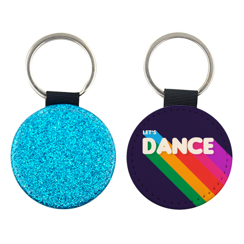"LET""S DANCE - personalised leather keyring by Ania Wieclaw"