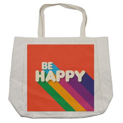 BE HAPPY - cool beach bag by Ania Wieclaw