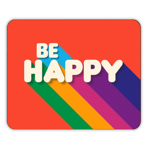 BE HAPPY - photo placemat by Ania Wieclaw
