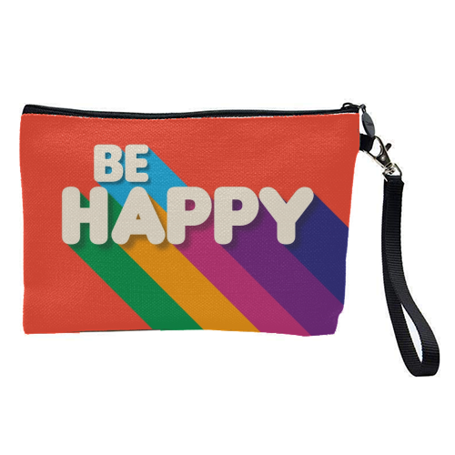 BE HAPPY - pretty makeup bag by Ania Wieclaw