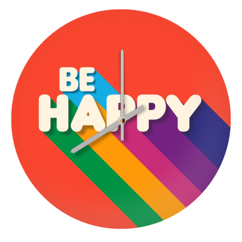 BE HAPPY - creative clock by Ania Wieclaw