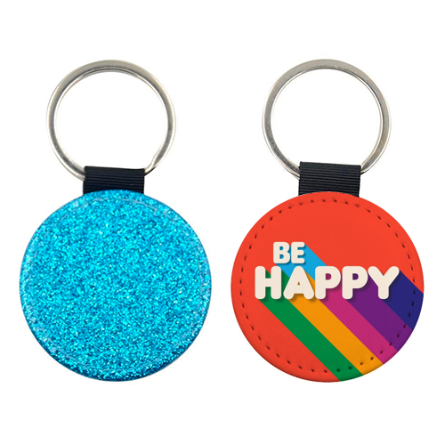 BE HAPPY - personalised leather keyring by Ania Wieclaw