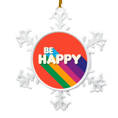BE HAPPY - snowflake decoration by Ania Wieclaw