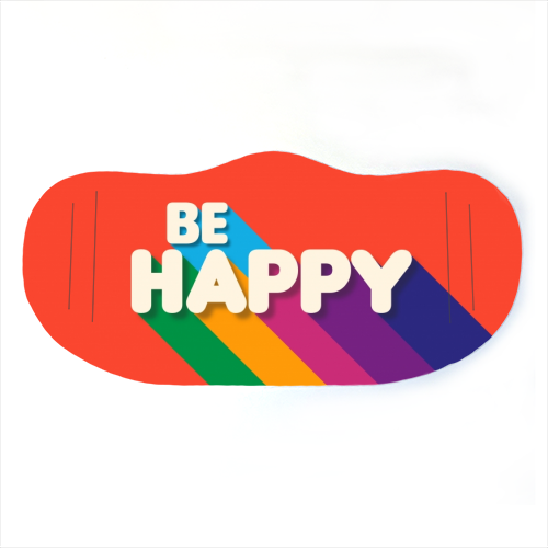 BE HAPPY - washable face mask by Ania Wieclaw