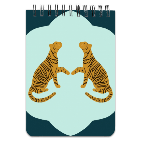 Mirrored Tigers - designed notebook by Ella Seymour