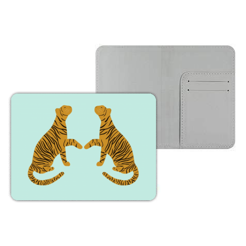 Mirrored Tigers - designer passport cover by Ella Seymour
