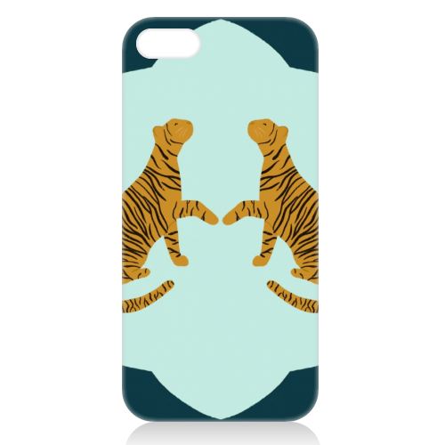 Mirrored Tigers - unique phone case by Ella Seymour