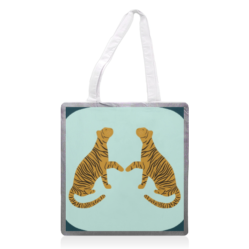 Mirrored Tigers - printed tote bag by Ella Seymour